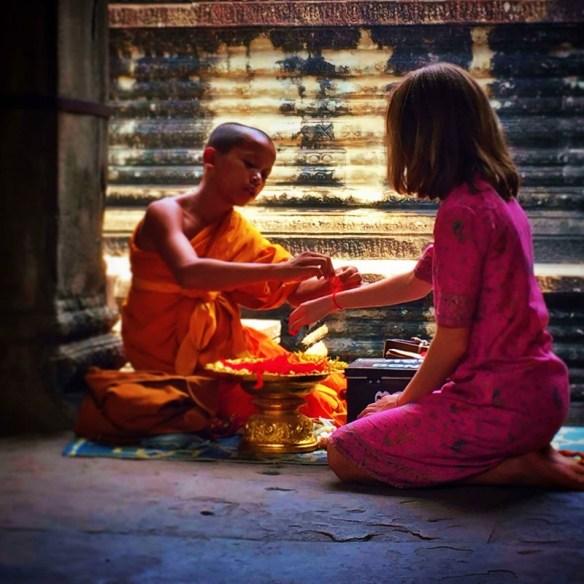Blessed moment at Angkor Wat