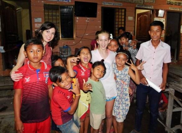 Elena Orwick with the locals