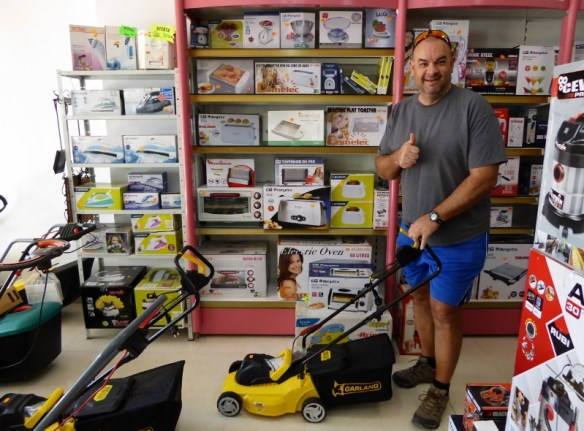 Spring Cleaning in Almunecar Spain Our Vacuum in upper right, but this mower was adorable
