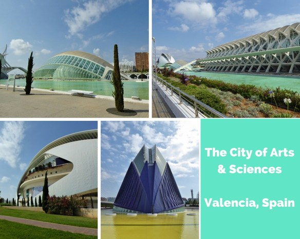 City of Arts and Sciences Valencia Spain collage