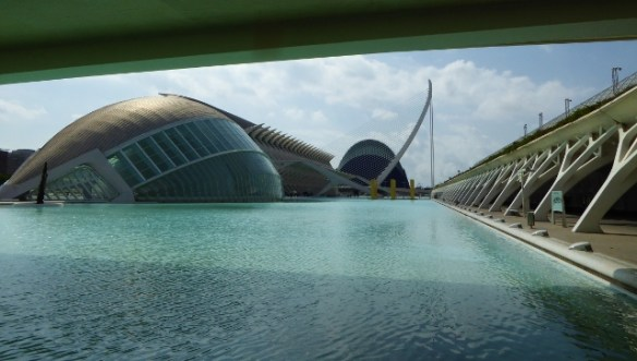City of Arts and Sciences Valencia Spain looks like a fish from this vantage