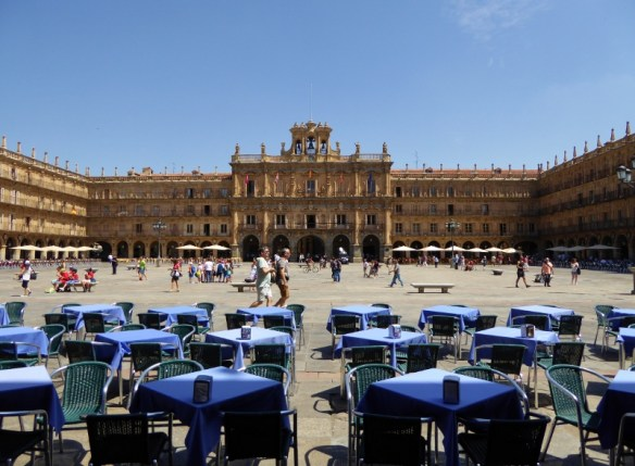 People watch in Plaza Mayor Salamanca City Discovery 48 hour Salamanca Card