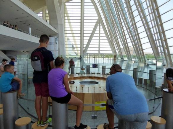 Valencia Science Museum giant pendulum