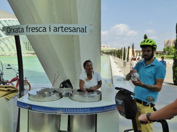 horchata vendor City of Arts and Sciences Valencia Spain