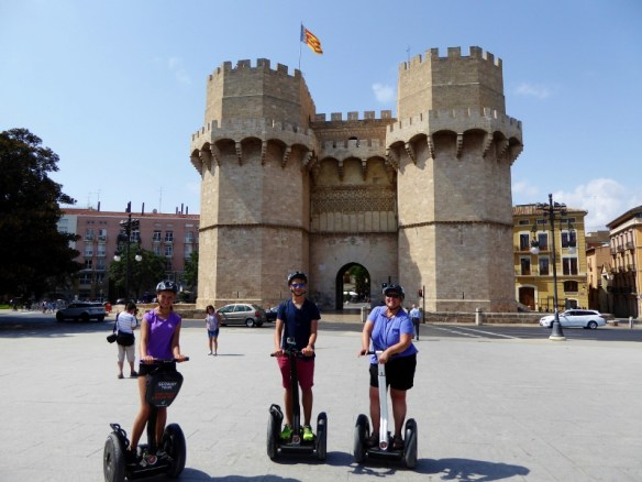 Segway tour Valencia to old towers and gate to the city