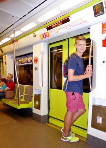 48 hour Valencia Tourist Card- riding the metro.