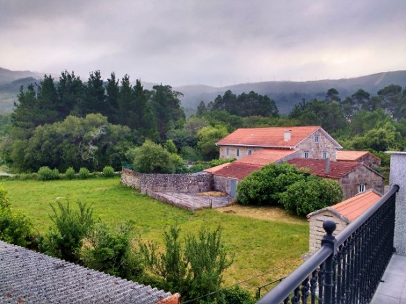 Galicia view from back terrace at rental in Carnota Spain