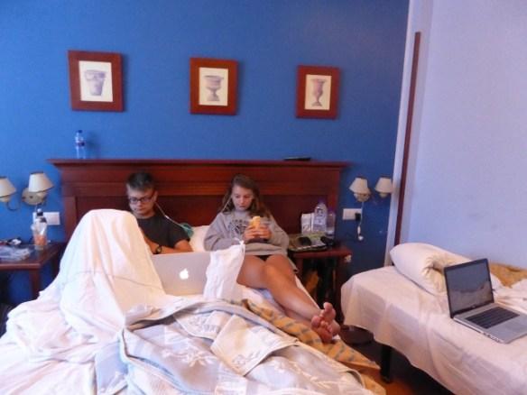 Arriondas Asturias Spain La Estrada Hotel family room