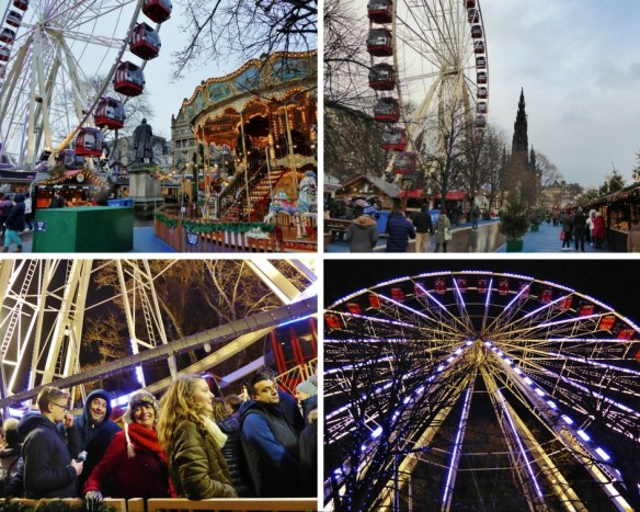 Edinburgh Christmas Ride - The big wheel collage