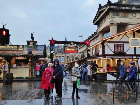 Edinburgh Scotland Christmas Markets and City