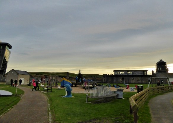 One Of The Best Tiny House Villages Footdee Fittie park and playground at the Aberdeen Harbour