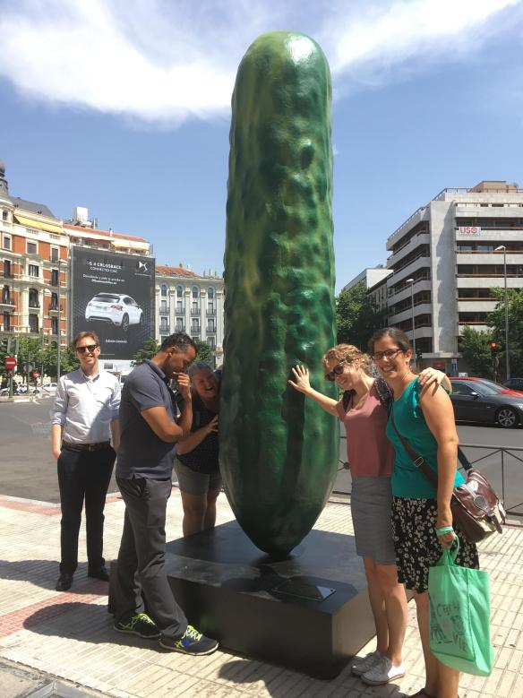 Pueblo Espanol class on Madrid walk and the big pickle in madrid