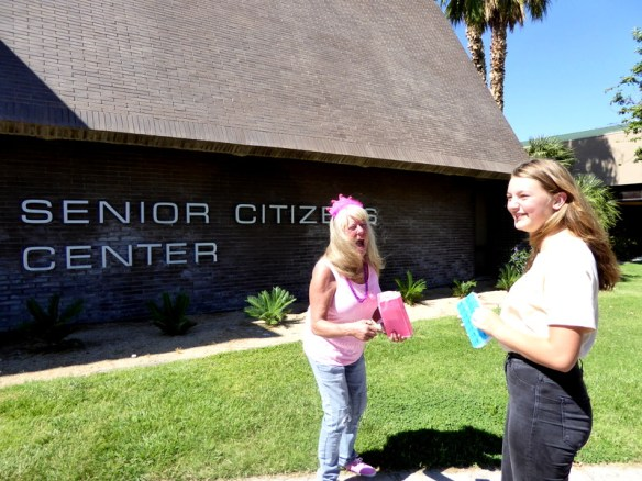 Gma Bev 75 Bday Utah summer 2017 - Las Vegas Senior Center gift reveal