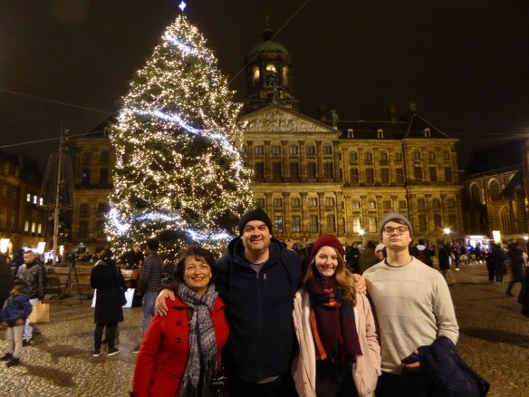 If you are in Amsterdam at Christmas time, you must go to see the tree at Dam Square.  The entire area is just beautiful and no matter which path you take to arrive and depart, you will be dazzled with beautiful lights and decorations.