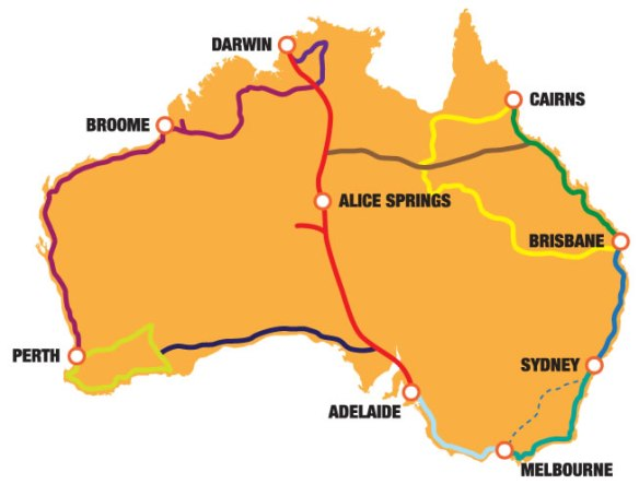 Australia-and-her-Travel-Routes