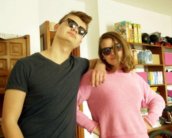 Lars and Anya teens striking a pose
