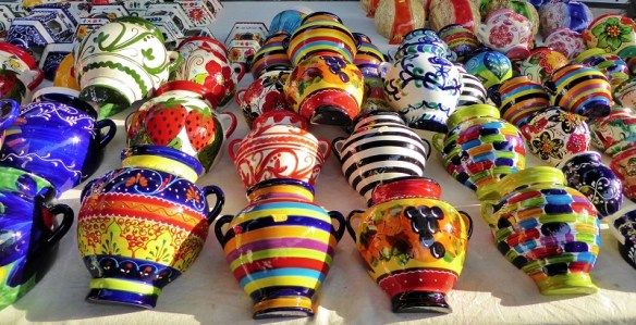 Spanish ceramics and pottery - What To Buy In Spain, Souvenirs, Gifts & Things To Enjoy Right Away! If you aren't sure what to buy in Spain, don't worry we have a great list for you.  We cover things to buy in Spain as souvenirs for you to remember your trip.  Things to buy in Spain to give as a gift.  We also share with you the best things to buy in Spain and enjoy while you are there! Read more on WagonersAbroad.com