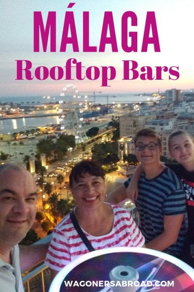 This is list to save for the perfect rooftop bar Malaga! Perched high above the city you will enjoy views of the city center, the port, the sea and more! Read more on WagonersAbroad.com