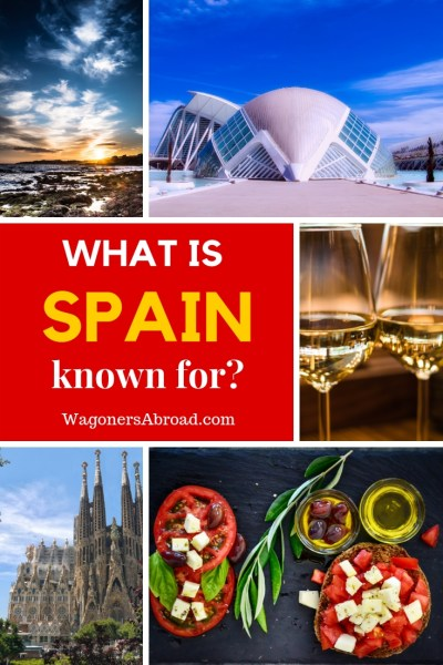 A comprehensive list of what Spain is known for! Including tapas, Flamenco, sun, and beaches, but there is more to it than that! Read more on WagonersAbroad.com