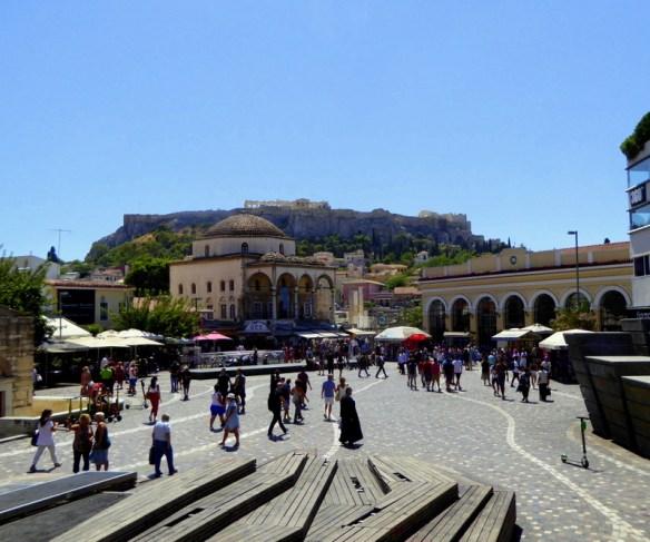 Monastiraki Square - Athens flea market, street vendors