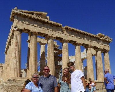 Wagoners Abroad in front of the Parthenon in Athens Greece