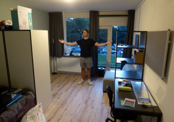 Attending University In Europe can be a very affordable option for foreign residents in the EU or living abroad. Amsterdam here he comes. Lars off to university in Amsterdam. Student housing is lovely and we have a happy camper. Read more on WagonersAbroad.com