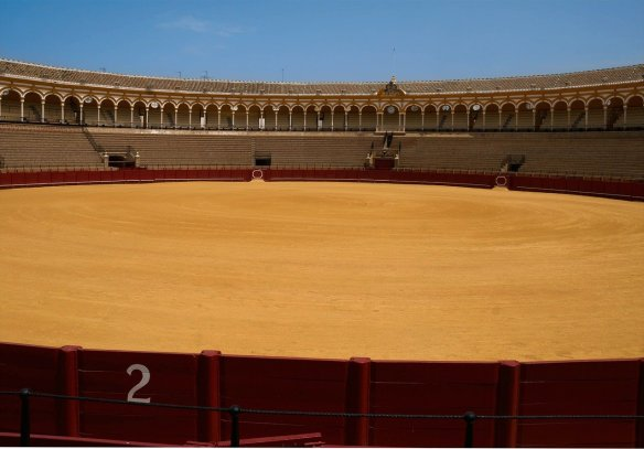 Seville bullring-Visit the bullfight arena. Read more on WagonersAbroad.com