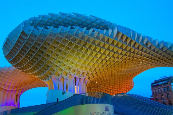 seville metropol parasol - Have tapas near the Mushroom building. Read more on WagonersAbroad.com