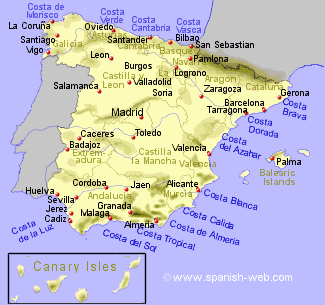 Spanish Costas described. Read more about best places to live in Spain on WagonersAbroad.com