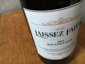 2015 Laissez Faire Red Table Wine by Cinder