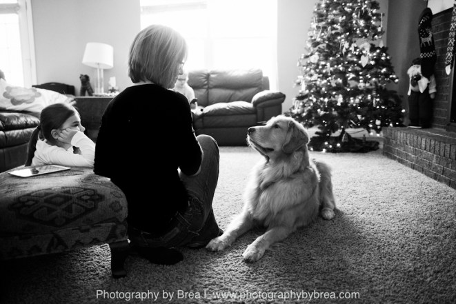 Amy Koran Chard, Her Daughter Courtney (Living with Limb-Girdle Dystrophy) & Her Service Dog, Micah Credit: Photography By Brea http://www.photographybybrea.com/2014/01/20/children-and-family-photographer-wags-4-kids-courtney-and-micah/