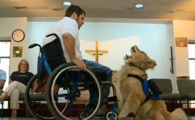 Nick Walczak & his service dog, Turner