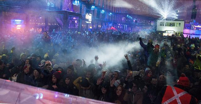 The crowd at Igloofest (Credit: Flickr - madisynaliya)