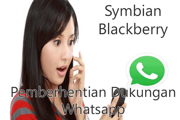 whatsapp hentikan dukungan di blackberry dan symbian