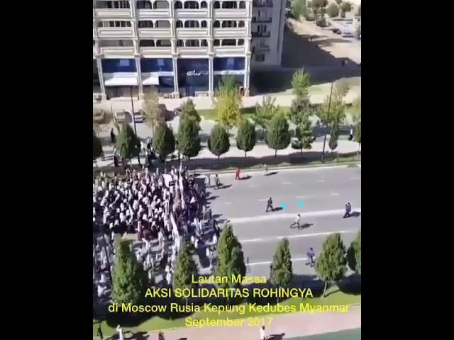 Muslim rusia demo mengecam krisis kemanusiaan di Myanmar