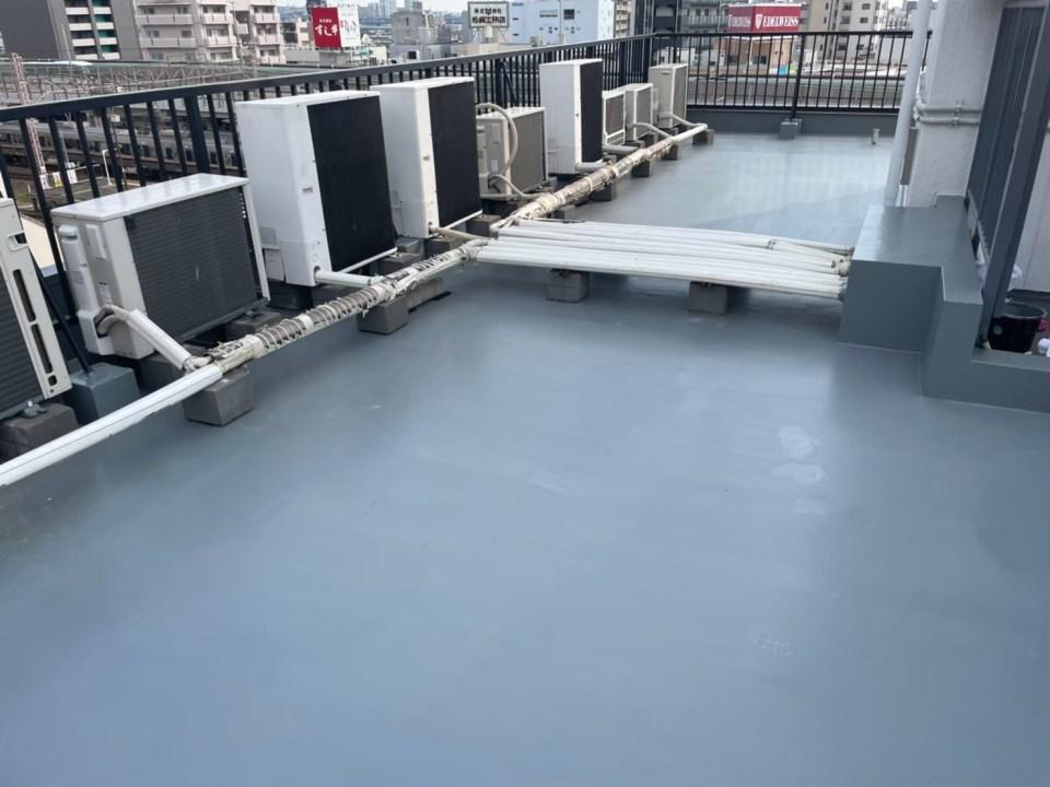 完成:屋上防水塗装工事