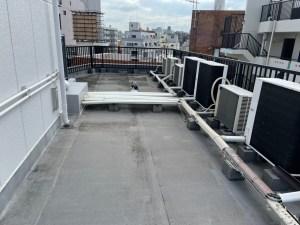施工前:屋上防水塗装工事