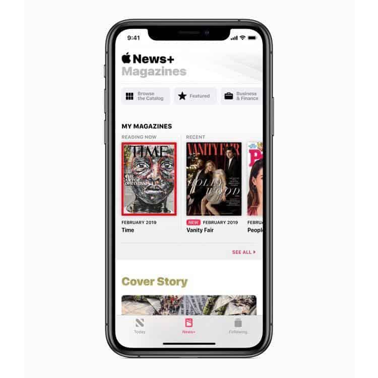 Apple推出Apple News+,加入雜誌訂閱服務