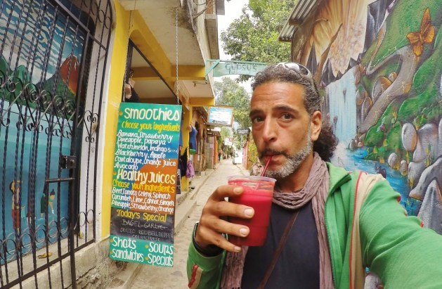 drinking many juices before hiking volcanos