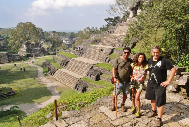 enjoying Palenque with mexican friends
