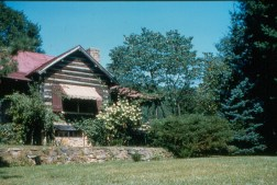 Front of lodge, circa 1950