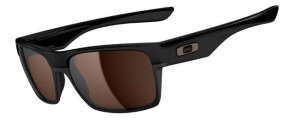 New! $250 Oakley Two Face SKU# OO9189-03 Polished Black/Dark Bronze