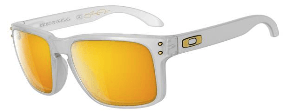 Oakley SHAUN WHITE SIGNATURE SERIES POLARIZED HOLBROOK™ SKU# OO9102-42 Color: Matte Clear/24K Polarized
