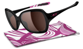 POLARIZED OAKLEY OVERTIME™ BREAST CANCER AWARENESS EDITION SKU# OO9167-09 Color: Polished Black/OO Grey Polarized