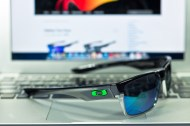 New! $250 Oakley Two Face SKU# OO9189-04 Polished Black/Jade Iridium