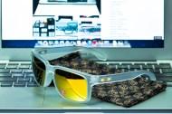 SHAUN WHITE SIGNATURE SERIES POLARIZED HOLBROOK™ SKU# OO9102-42 Color: Matte Clear/24K Polarized