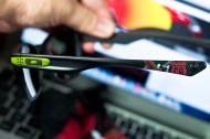detail on ear stem. RYAN SHECKLER SIGNATURE SERIES GARAGE ROCK™ SKU# OO9175-25 Color: Matte Black/Dark Grey