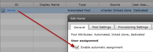 Managing User Assignments in VMware View Dedicated Pools