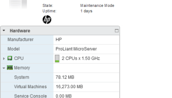 The HP ProLiant MicroServer N40L - VMware Home Lab Review