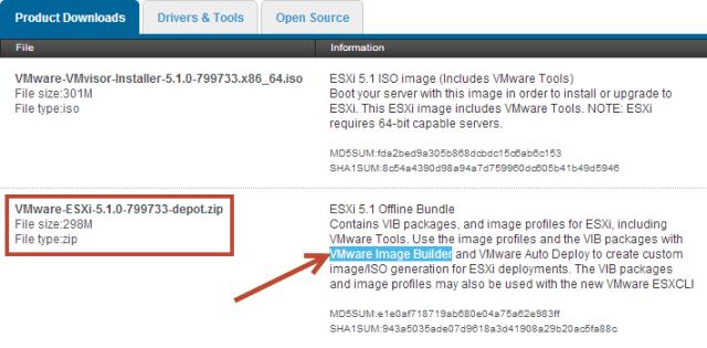 Utilizing vSphere ESXi Image Builder with Partner Software